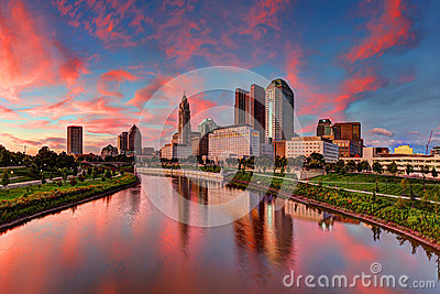 Columbus, Ohio cityscape