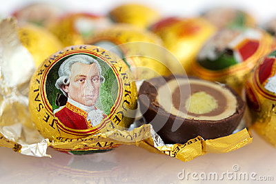 The Mozartkugel, a sweet confection of Austria