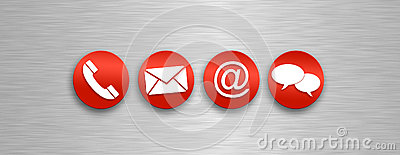 Contact and communications icons