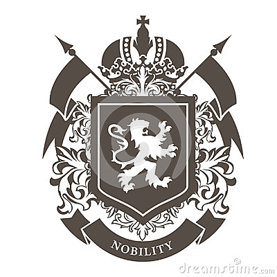 Royal blazon - luxurious coat of arms with lion