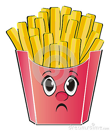 Not happy face of fast food
