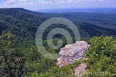 Petit Jean River Valley from Overlook at Mount Magazine, Arkansas`s Highest Point