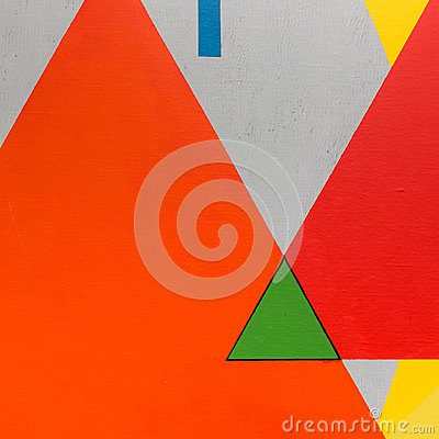 Abstract Painting Art with Geometric Shapes: Colorful Triangles