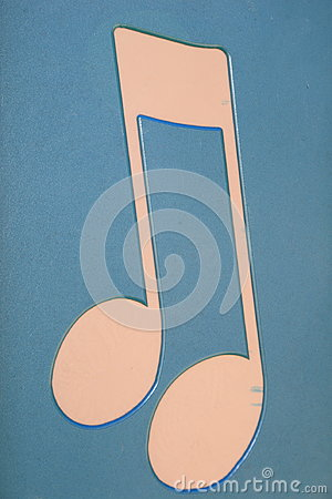 Music note symbol art- billboard for modern building