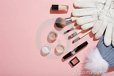 Winter makeup products