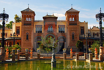Monuments of Seville in Park Maria Luisa