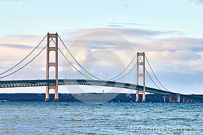 Michigan`s Mackinac bridge
