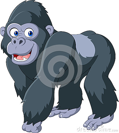 Cartoon silver back gorilla