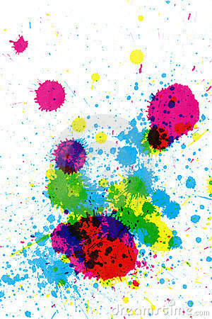 Colorful ink splatter