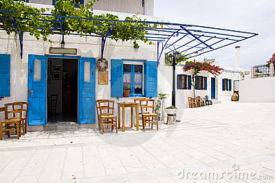 Cafe greek lefkes paros cyclads greece