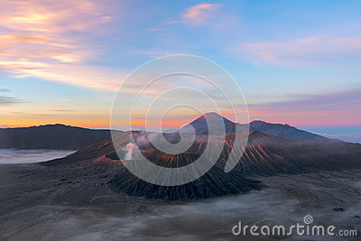 Volcanoes of Bromo National Park, Java, Indonesia . The second e