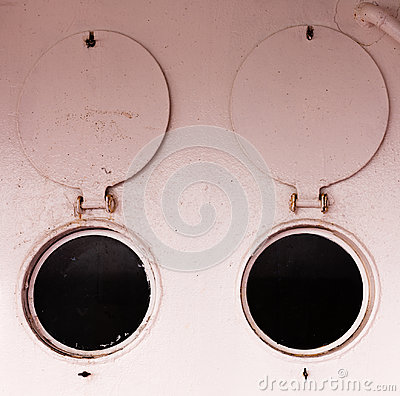 Bulleye portholes open round shutters abstract