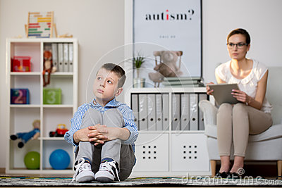 Kid sick of autism