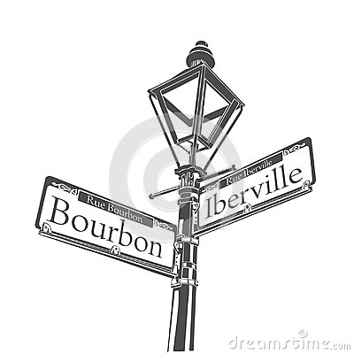 New Orleans Culture Bourbon Street Lamp Sign