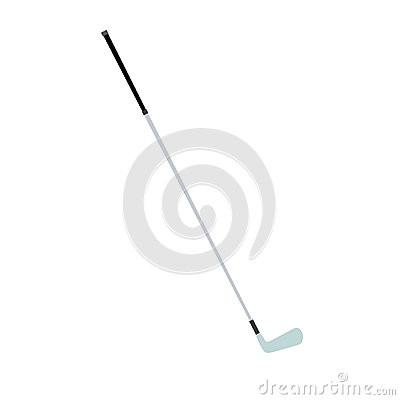 Golf club vector isolated iron illustration white ball equipment sport game metal
