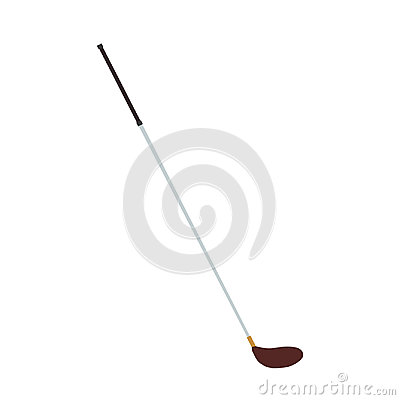 Golf club wood vector ball sport illustration driver white game equipment iron isolated