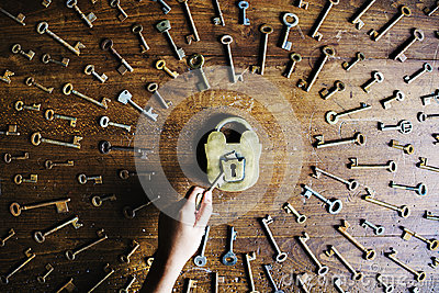 Lock and Key Search and unlock the lock