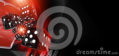 Red Craps Dices Casino Banner