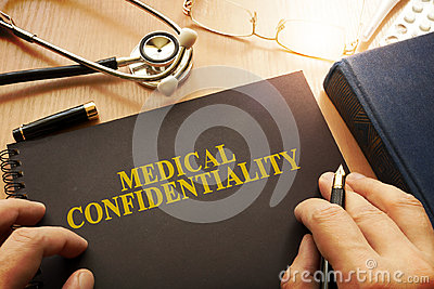 Document with name medical confidentiality.