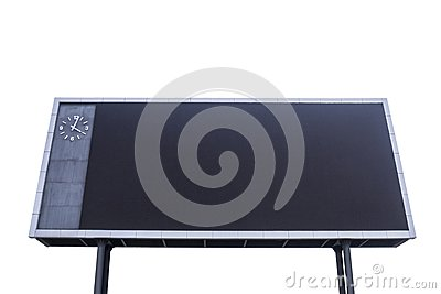 Scoreboard with black blank screen for reporting sporting events