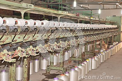 The textile industry factory, manufacture of rope