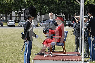 H.M.the Queen Margrethe II uses Crutches