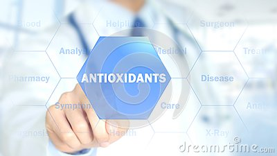 Antioxidants, Doctor working on holographic interface, Motion Graphics