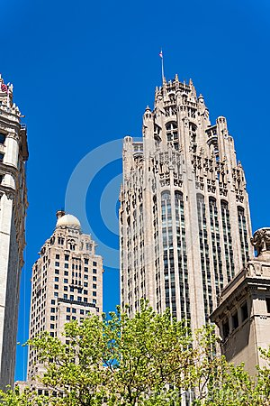 Tribune Tower and Blue Sky