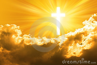 Christian Cross Sky God Background
