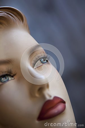 Close up of a pasteboard mannequin