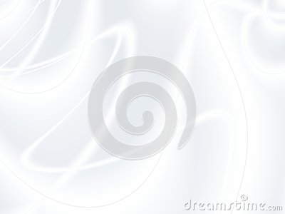 Elegant white grey modern abstract fractal art. Bright background illustration with decorative swirling curves. Creative graphic t