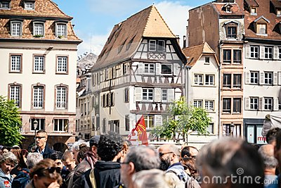 Place kleber gahering political march during a French Nationwide
