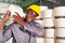 Worker carrying raw material