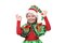 Girl - Santa's elf showing sign OK.