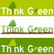 Think Green Concept Banner