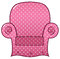 Pink dotted chair clipart