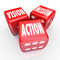 Vision Mission Action Three Red DIce Goal Strategy