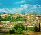 Morocco, a landscape of a city wall in Fes