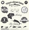 Vector Set: Gone Fishing Labels