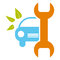 Car service sign - healthy environment, bio concep