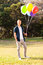 Teenage boy balloons
