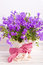 Purple flower decoration