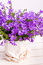 Summer purple flower decoration