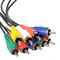 Colored av cable, isolated on white. Video and audio cable plugs