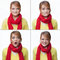 Woman emotions collage isolated