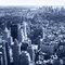 New York City, Manhattan Skyline aerial panorama view with skyscrapers. Black and White