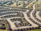 New home developments illustrate urban sprawl from an aerial perspective