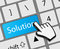 Keyboard solution button with mouse hand cursor
