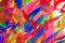 Abstract colorful brush strokes background