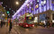 Christmas street decorations in London